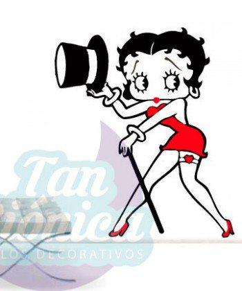 Betty Boop, Vinilo Adhesivo Decorativo para las paredes. Personajes vintage, baratos y económicos.
