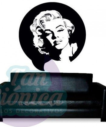Marilyn Monroe, vinilo adhesivo decorativo, pin up, stickers baratos y económicos, empavonados y fotomurales.