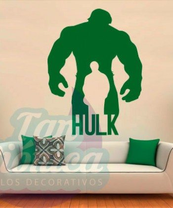 Hulk, cómic de marvel. películas y cine. personaje, Vinilo Adhesivo Decorativo, sticker para decoración de paredes.