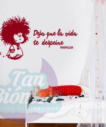 """""""Deja que la vida te despeine"""", Mafalda. Vinilos Adhesivos Decorativos, infantil, juvenil, adulto. Decoración en todo Chile."""