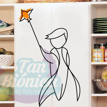 El Principito, Le petit Prince, Vinilo Adhesivo Decorativo, Decoración para tu pared, mueble, adulto, joven e infantil.