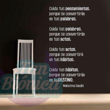 Frases Célebres 6 Vinilos Decorativos Tanbionicacl