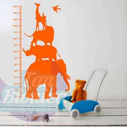 Medidores Infantiles, vinilos adhesivos decorativos para las paredes, muebles, puertas, ventanas de tu casa. Stickers para niños y niñas.