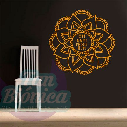 Ornamental, Adornos Vinilos Decorativo, Adhesivo sticker, mandala, empavonados. Tanbionica.cl. Mantra. Oh mani padme hum