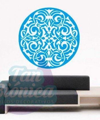 Mandala para las paredes, vinilo adhesivo para decoración. Sticker hindú, budismo, meditación. Empavonados. Envíos a todo Chile. tanbionica.cl