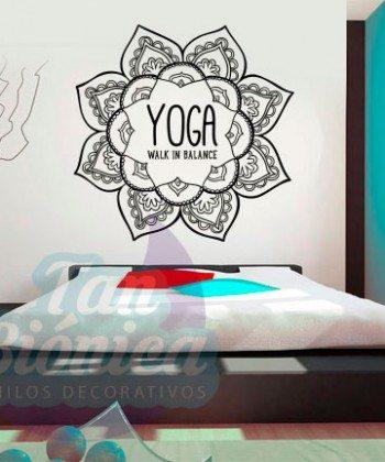 Ornamental, Adornos Vinilos Decorativo, Adhesivo sticker, mandala, empavonados. Tanbionica.cl YOGA