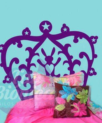 Respaldo de cama infantil. Adhesivo para dormitorio, Vinilo para la pieza, sticker decorativo. Chile.