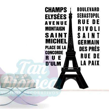 Paris Francia ciudades, vinilos adhesivos decorativos, stickers, empavonados y fotomurales.