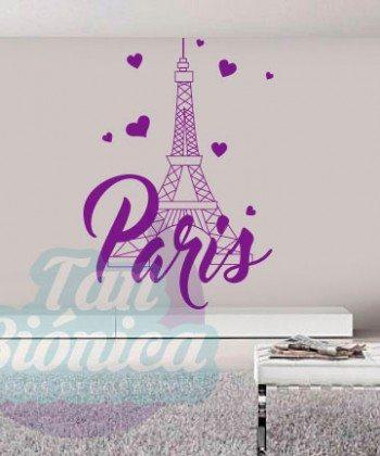 Paris, Torre Eiffel vinilo adhesivo decorativo de ciudad, para las paredes stickers empavonados fotomurales