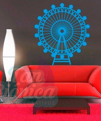 London eye, londres adhesivo vinilo decorativo de ciudad, sticker para paredes