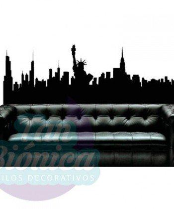 Nueva York, Estados Unidos Vinilos Adhesivos Decorativos de ciudades modernos, paredes, hombres, mujeres