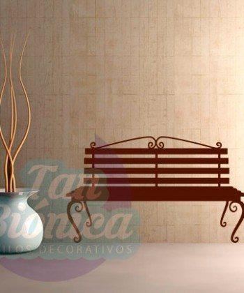 Banca de plaza adhesivo decorativo sticker, para las paredes de tu hogar. Decoración