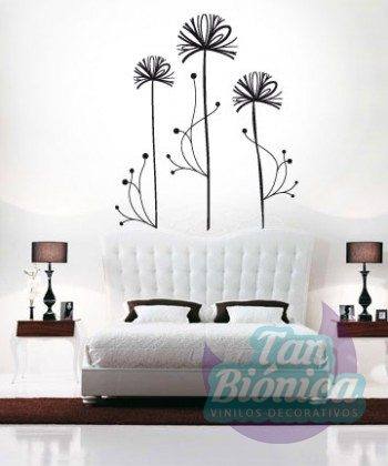 Flor contemporánea, vinilo decorativo adhesivo decoración