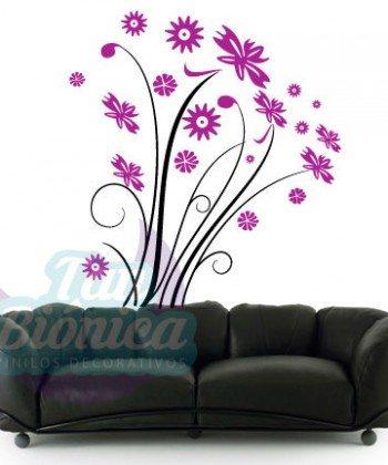 Flores, corazones. planta, vinilo adhesivo decorativo tanbionica, chile, fotomurales y empavonados
