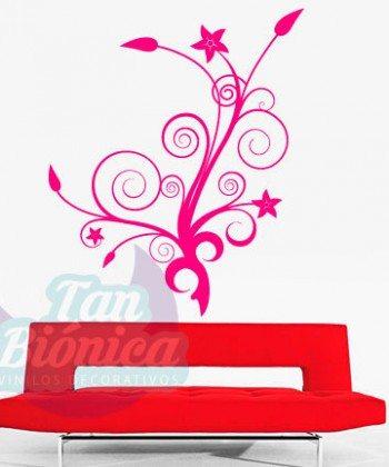 Flores vinilo adhesivo decorativo empavonados y fotomurales para las paredes de hogar