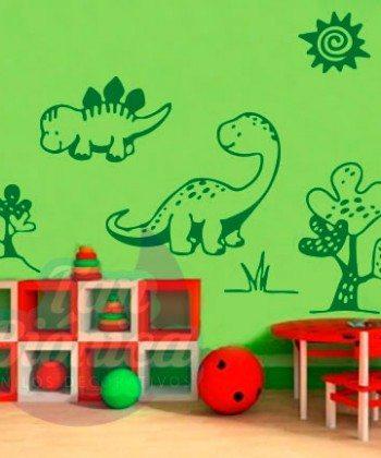 Vinilo Infantil adhesivo decorativo, sticker de dinosaurios, niño, bebé, joven, guagua