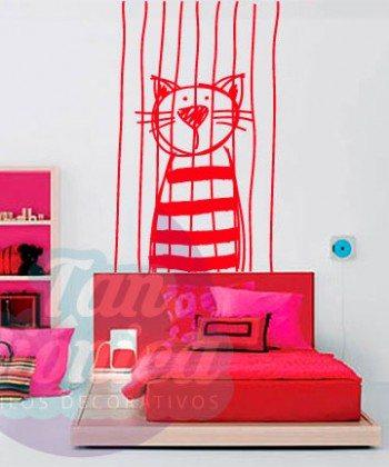 Gato encarcelado niño, niña, bebé, vinilo adhesivo decorativo infantil para tu hogarGato encarcelado niño, niña, bebé, vinilo adhesivo decorativo infantil para tu hogar
