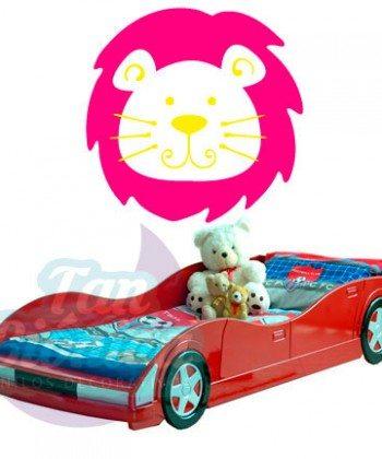 Rey de la selva, león vinilo adhesivo decorativo, sticker para las paredes.