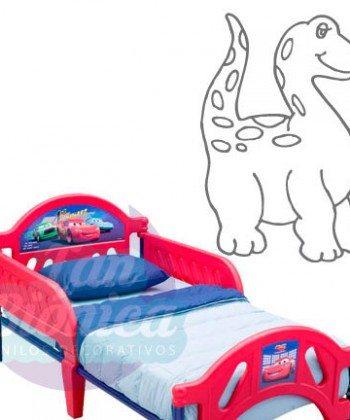 Dinosaurio adhesivo vinilo decorativo, chile, fotomurales y empavonados infantiles. Niño y niña-