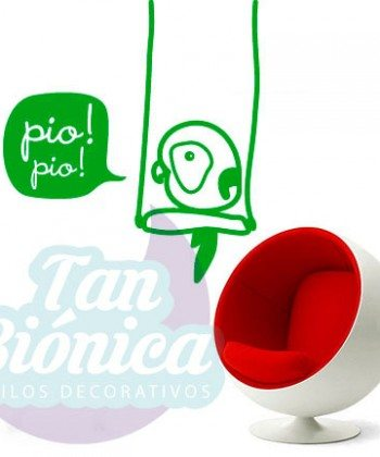 Pájarito infantil adhesivo decorativo vinilo para niñoas y niñas, bebés, habitaciones