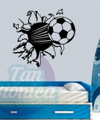 Pelota de fútbol, vinilo infantil de soccer para niños y niñas, decoración de vinilos decorativos adhesivos, stickers empavonados y fotomurales