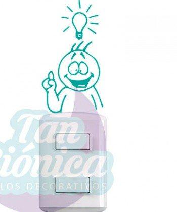 Vinilos Adhesivos Decorativos para enchufes o interruptores, ampolleta idea, decoración, empavonados, fotomurales