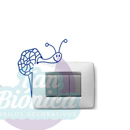 Vinilos Adhesivos decorativos caracol para enchufes o interruptores baratos y económicos, chile