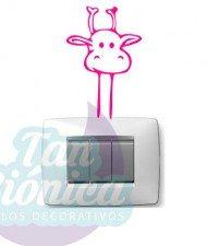 Vinilos Adhesivos decorativos jirafa para enchufes o interruptores baratos y económicos, chile