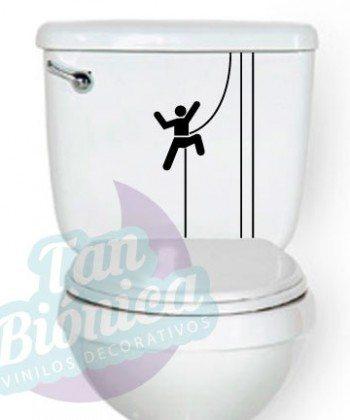 WC Vinilo Adhesivo Decorativo para WC, baño, sticker para el estanque del baño, fotomurales y empavonados económicos y baratos, Chile.