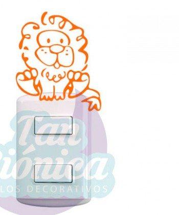 Interruptores 15 Vinilos adhesivos decorativos, ideas para decoración, empavonados y fotomurales para las paredes en chile. Animales león infantil