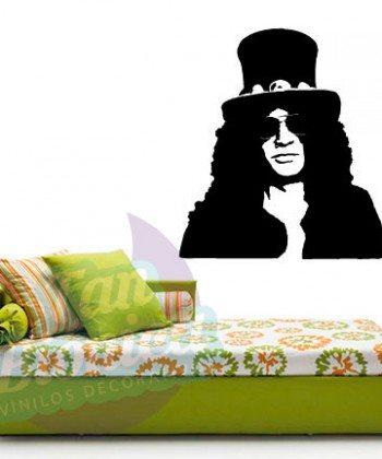 Leyendas de música, cantantes, Vinilos Adhesivos Decorativos, fotomurales, empavonados oficinas, Chile, gratuito, barato y económico. Slash, Guns and Roses.