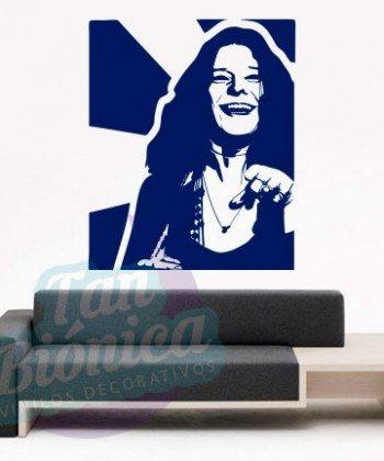 Leyendas de música, cantantes, Vinilos Adhesivos Decorativos, fotomurales, empavonados oficinas, Chile, gratuito, barato y económico, Janis Joplin.