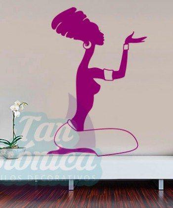Vinilos Adhesivos decorativos, stickers, empavonados y fotomurales. Baratos y económicos, Pegatinas para las paredes. Mujer africana