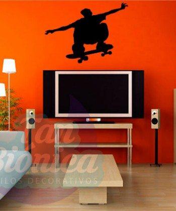 Vinilos Adhesivos decorativos, stickers, empavonados y fotomurales. Baratos y económicos, Pegatinas para las paredes. Skater, skate