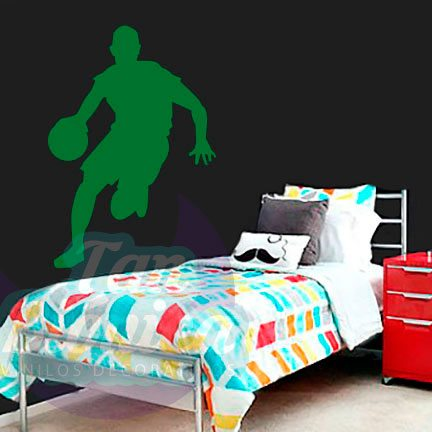 Vinilos Adhesivos decorativos, stickers, empavonados y fotomurales. Baratos y económicos, Pegatinas para las paredes. Jugador de básquetbol, basquetbolista